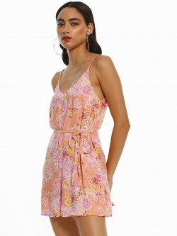 New Look Floral Paisley Print Playsuit