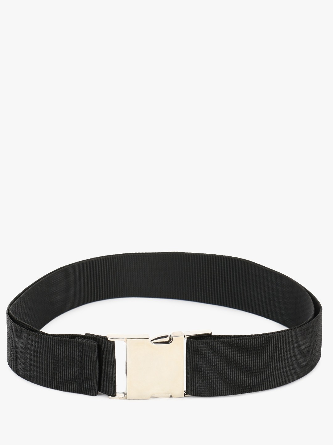 New Look Black Lock Buckle Webbing Belt 1