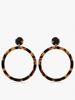 Zero Kaata Animal Print Drop Hoops