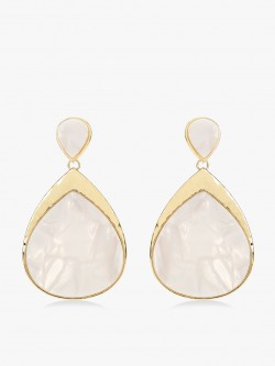 Zero Kaata Marble Stone Drop Earrings