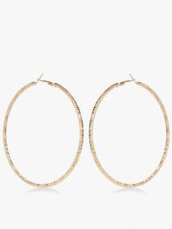 Zero Kaata Oversized Gold Hoop Earrings