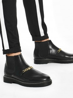 KOOVS Chain Detail Chelsea Boots