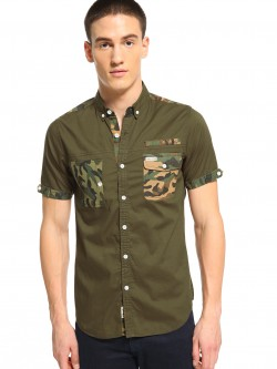 Soulstar Camo Patch Pocket Shirt