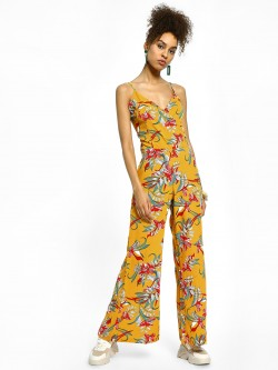 Miaminx Floral Tropical Print Jumpsuit