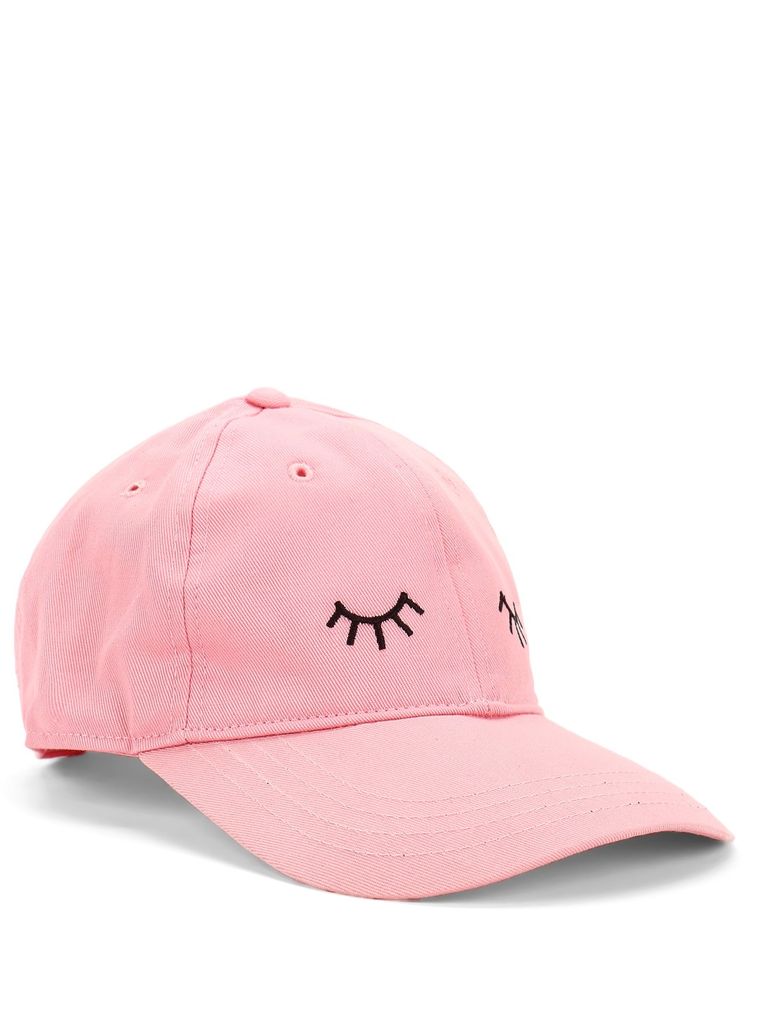 Lazy Panda Pink Wink Embroidered Cap 1
