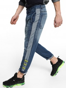 REALM Cut & Sew Side Panel Regular Jeans