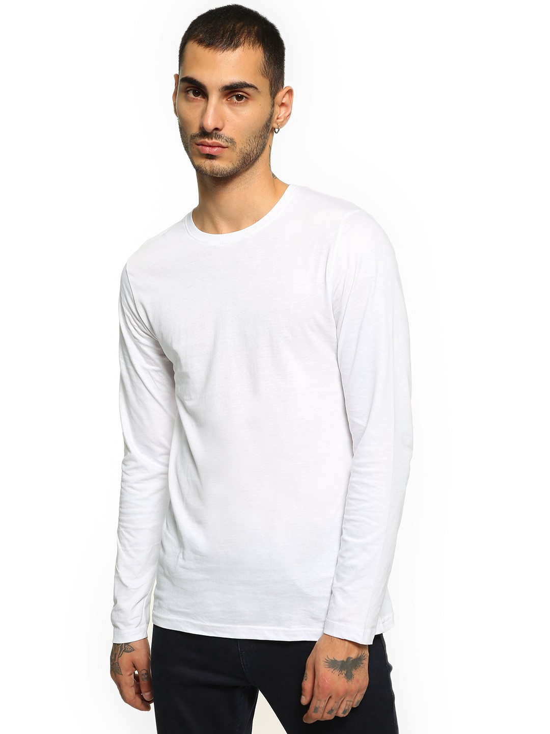 Blue Saint White Basic Long Sleeve T-Shirt 1