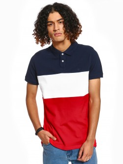 Blue Saint Colour Block Polo Shirt