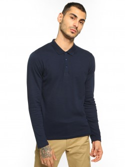 Blue Saint Basic Long Sleeve Polo Shirt
