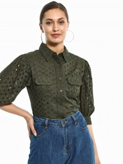 KOOVS Broderie Twin Pocket Shirt