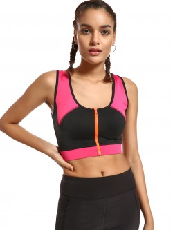 K ACTIVE KOOVS Colour Block Crop Top
