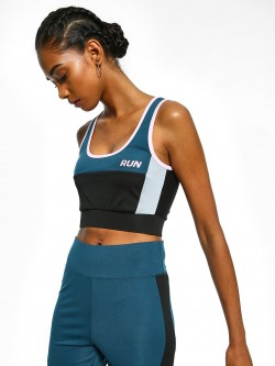 K ACTIVE KOOVS Run Colour Block Crop Top