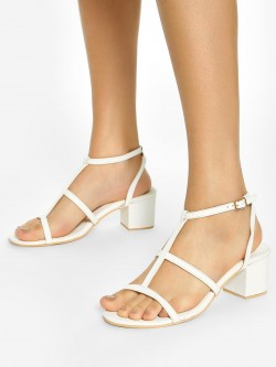 Shoe that fits You Multi-Strap Heeled Sandals