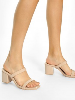 Shoe that fits You Double Strap Heeled Sandals