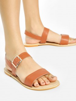 Shoe that fits You Double Strap Flat Sandals