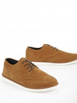 KOOVS Brogue Punches Suede Casual Shoes