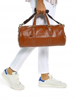 Tan Shades Buckle Detail Duffle Bag
