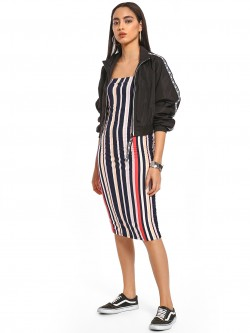 Iris Multi Stripe Bodycon Dress