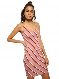 Iris Diagonal Stripe Bodycon Dress