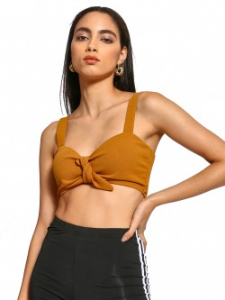 Iris Front Knot Crop Top