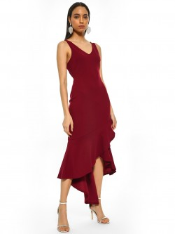 Iris Fishtail Sleeveless Asymmetric Dress