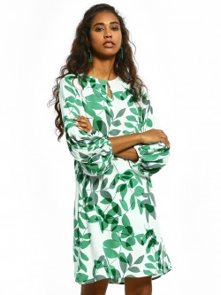 Femella Leaf Print Shift Dress