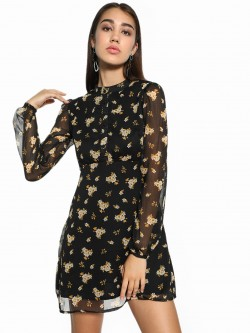 KOOVS Floral Print Shift Dress