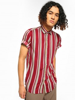 Green Hill Vertical Stripe Short Sleeve Shirt