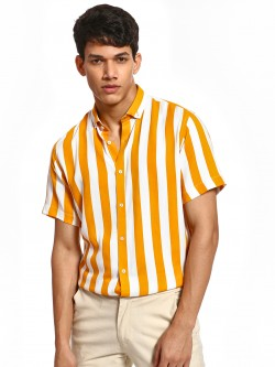 Green Hill Colour Block Stripe Shirt