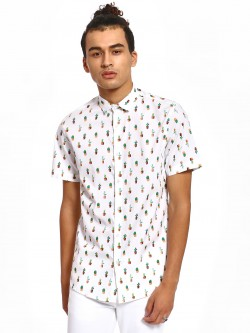 Green Hill Cactus Print Short Sleeve Shirt