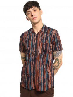 AMON Tie & Dye Vertical Stripe Shirt