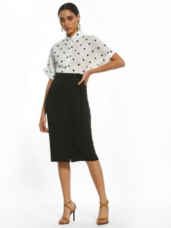 AND D-Ring Belt Pencil Skirt