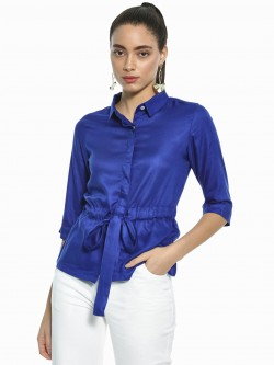 AND Basic Tie-Up Waist Shirt