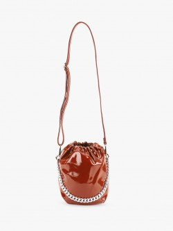 Origami Lily Patent Bucket Sling Bag