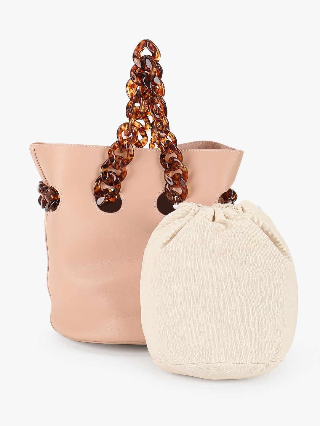 Origami Lily Pink Resin Chain Strap Handbag 1