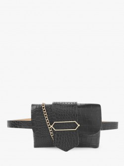 Origami Lily Crocskin Textured Bum Bag