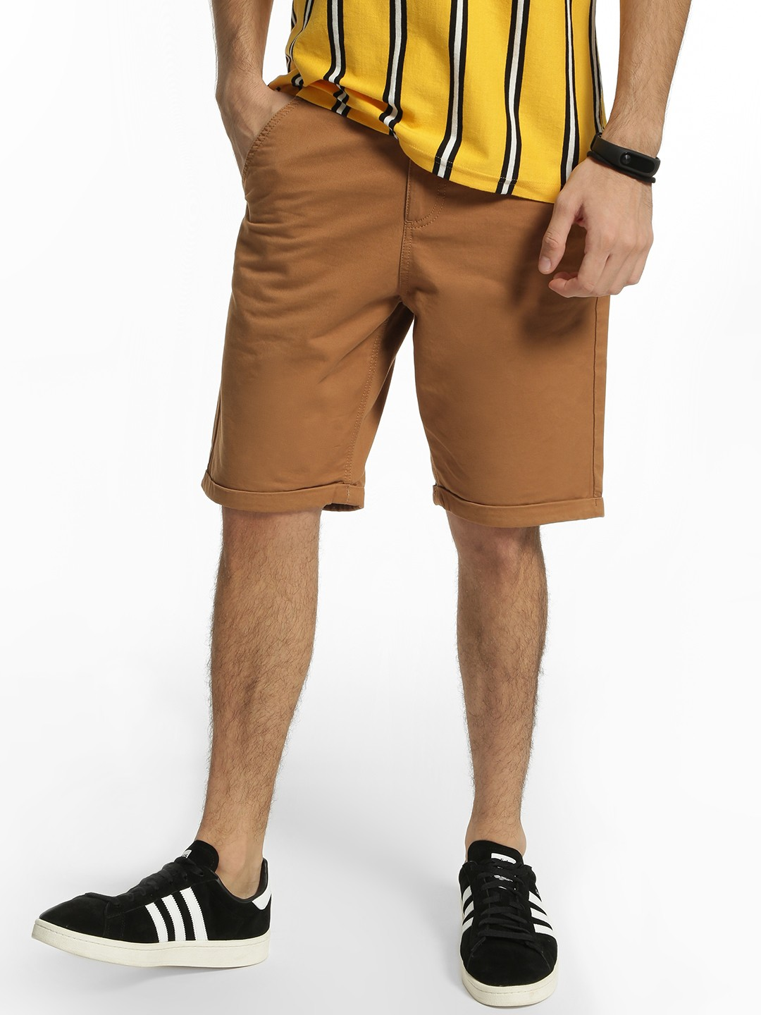 Blue Saint Brown Basic Slim Fit Shorts 1