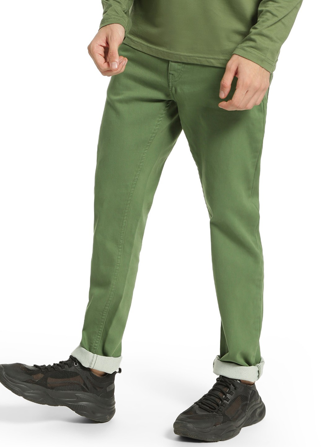 Blue Saint Green Basic Knitted Slim Trousers 1