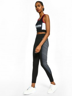 K ACTIVE KOOVS Side Stripe Panel Cropped Leggings