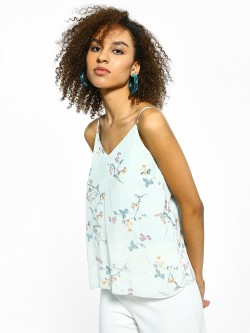 Cover Story Satin Floral Print Cami Top