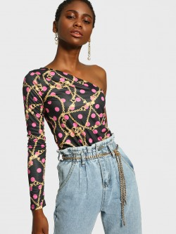 KOOVS Chain Dot Print Bodysuit