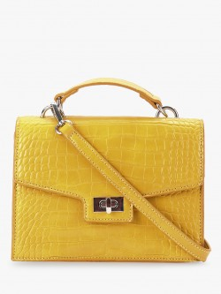 Cover Story Crocskin Texture Sling Bag
