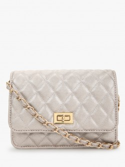 Cover Story Metallic Quilted Sling Bag