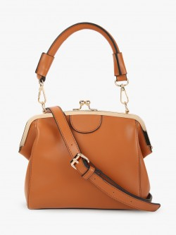 Cover Story Clasp Closure Sling Bag