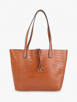 Cover Story Crocskin Texture Tote Bag