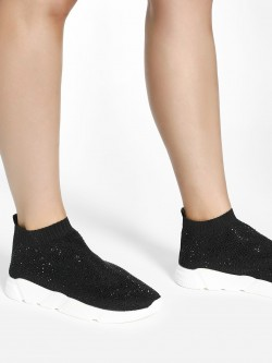 KOOVS Diamante Embellished Sockliner Trainers