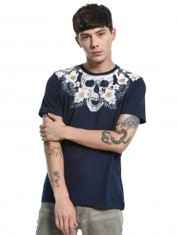 Garcon Skull Tropical Placement Print T-Shirt
