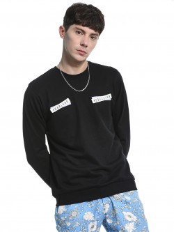 Garcon Text Print Velcro Patch Sweatshirt