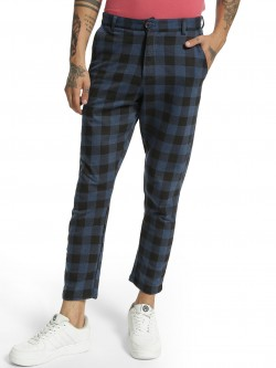 Garcon Multi-Check Knitted Cropped Trousers