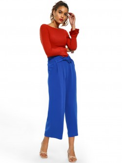 Cover Story Belted High Waist Culottes
